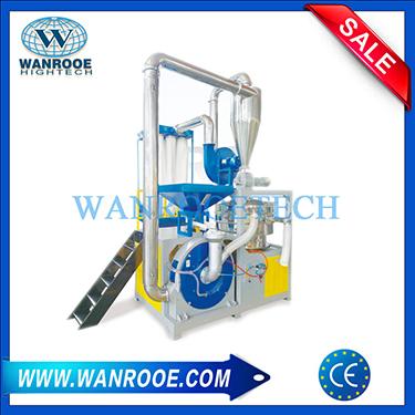 Double Disc Blade Waste PP PE PVC Grinder Plastic Pulverizer Machine