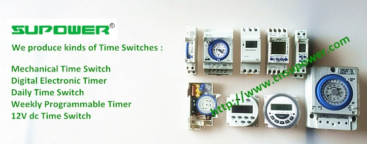CE RoHS Din Rail Switch Clock Analog Machenical Timer SUL181h 120V 220V 230V 16A 24 Hours Daily Programmable Time Relay Switch