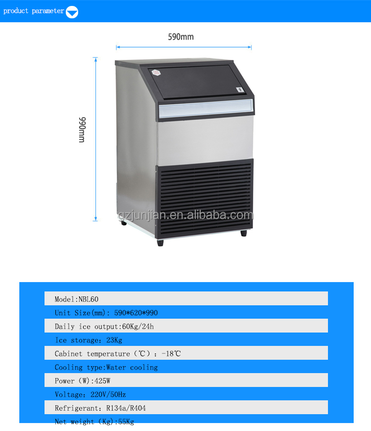 45KG ice cube machines factory shop in durban