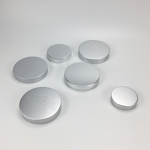 Shiny silver and matte silver aluminum coating cap for glass bottle
