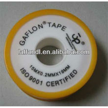 3/4'' ptfe thread seal tape with yellow spool and cap
