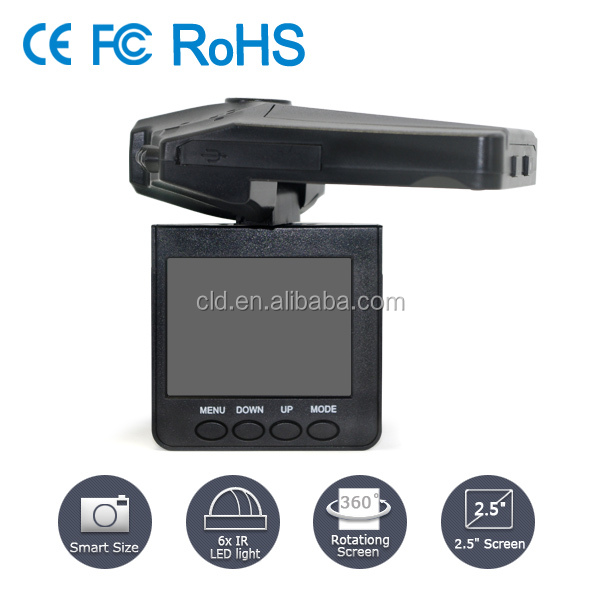 Rechargeable Battery 1920x1080P Loop Recording H.264 Full HD Car Drive Recorder