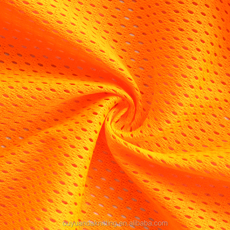 Breathable Tricot Knitted Reflective Fluorescent Mesh Fabric for Safety Vest