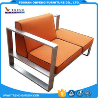 China OEM manufacture easy cleaning American country style stainless steel outdoor garden sofa