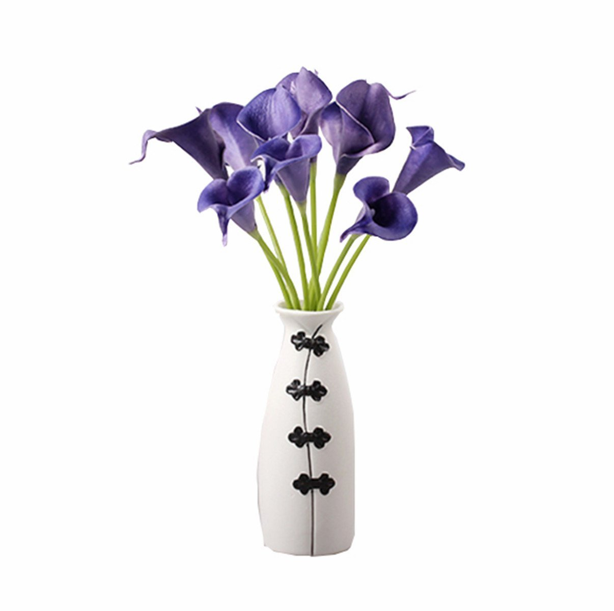 Cheap calla lily silk flowers find calla lily silk flowers deals on get quotations purple calla lily home party wedding posy real touch latex silk flowers bouquet artificial pu flowers izmirmasajfo