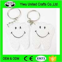 12 Key Chain with teeth reflective pendant vintage Charms Fashion Party Favour