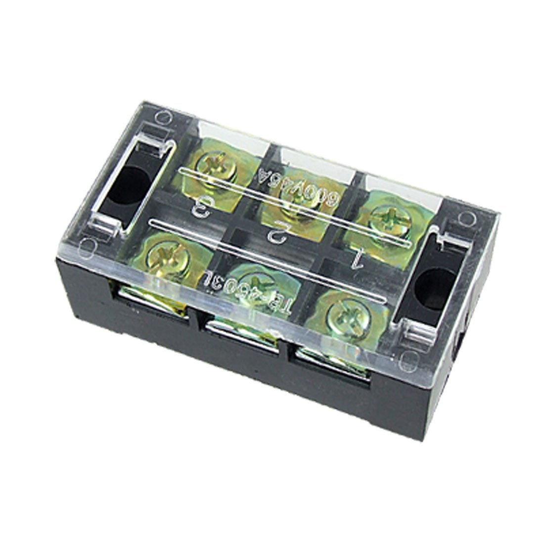 In Stock,Free Shipping 600V 45A Double Row 3 Position Screw Barrier Terminal Block