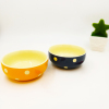 Colorful polka dots printed American standard ceramic nut dessert snack bowl