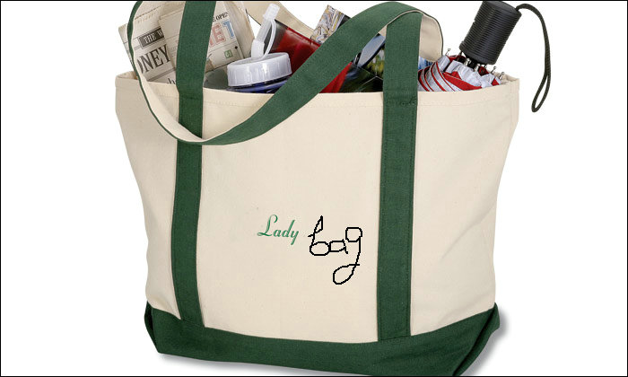 Light Weight Two tone Printed Grocery Tote Shopping Bags