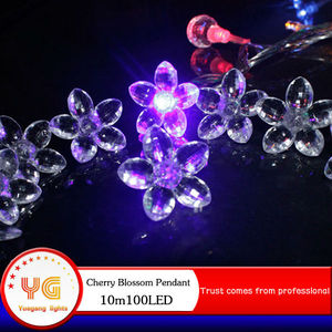 10m 100led Purple LED indoor outdoor bulk led cherry blossom christmas tree lights