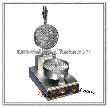 K499 1 Head Rotary Electric Stainless Steel Waffle Maker