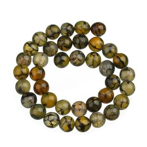 Round black add red dragon agate beads natural agate stone