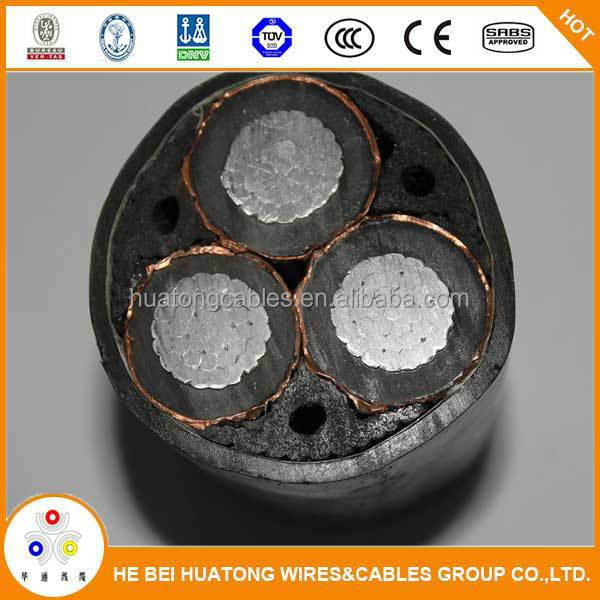 3 cores high voltage power cable with practical features