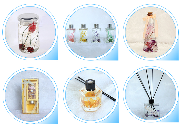 Luxe home fragrance geurende reed diffuser glazen reed diffuser