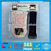 2015 dongguan factory pvc waterproof custom case for mobile phone with ipx8 certificate