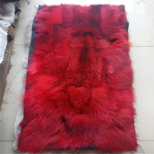 Factory Direct Sale Natural Fox fur Blanket Real Fox Belly Splicing Fur Plate 45*95cm