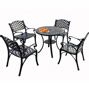 Outdoor Garden Furniture 5-piece Cast Aluminum Patio Dining Set