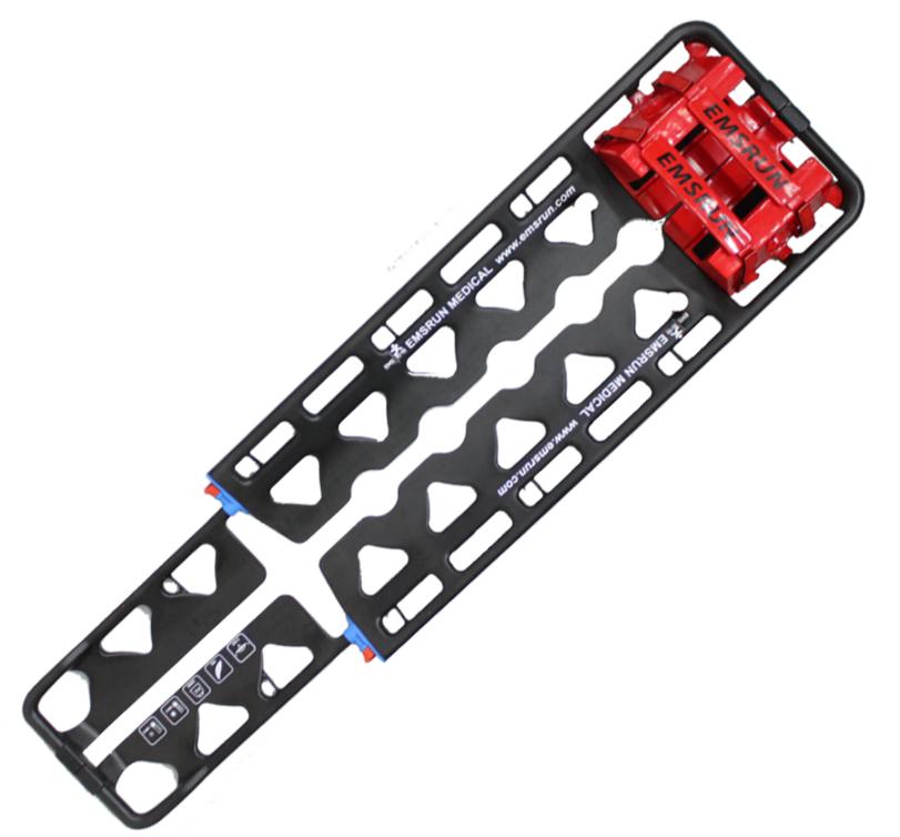 Carbon fiber backboard aluminium scoop stretcher