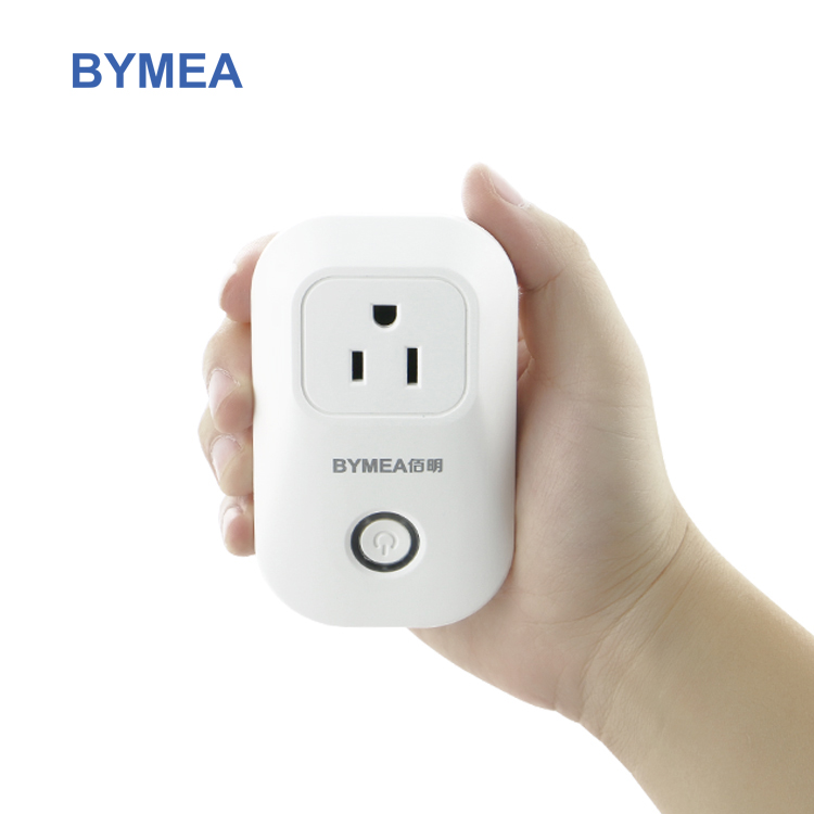 Bymea 2018 new designed US standard Free IOS Android APP control Smart wifi 2.4GHz switch Plug works with amazon alexa