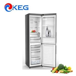 298L Nofrost Double Door Price Electronic Refrigerator Wholesale Dimensions with LED Display