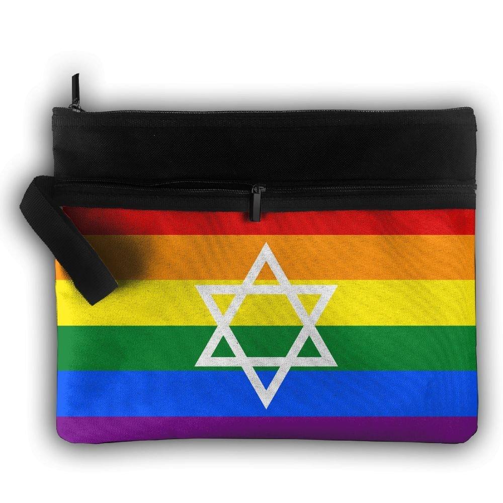 LGBT Lesbian Flag Multifunction Portable Pouch Trapezoidal Storage Organizer Bag