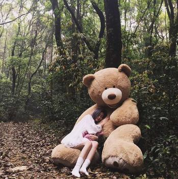 100cm The Giant Teddy Bear Soft Plush Toy Stuffed Animal High Quality kids  Toys Birthday Gift c658595bf3