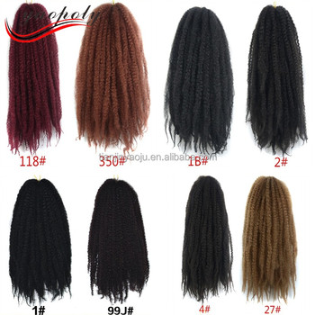 Afro Twist Marley Braiding Crochet Synthetic Hair Extension Braid Whole Price