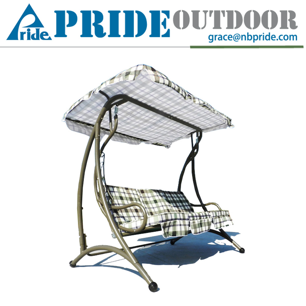 High Quality 3 Seater Fabric Metal Garden Outdoor Patio Swing Chair Garden Iron Swing