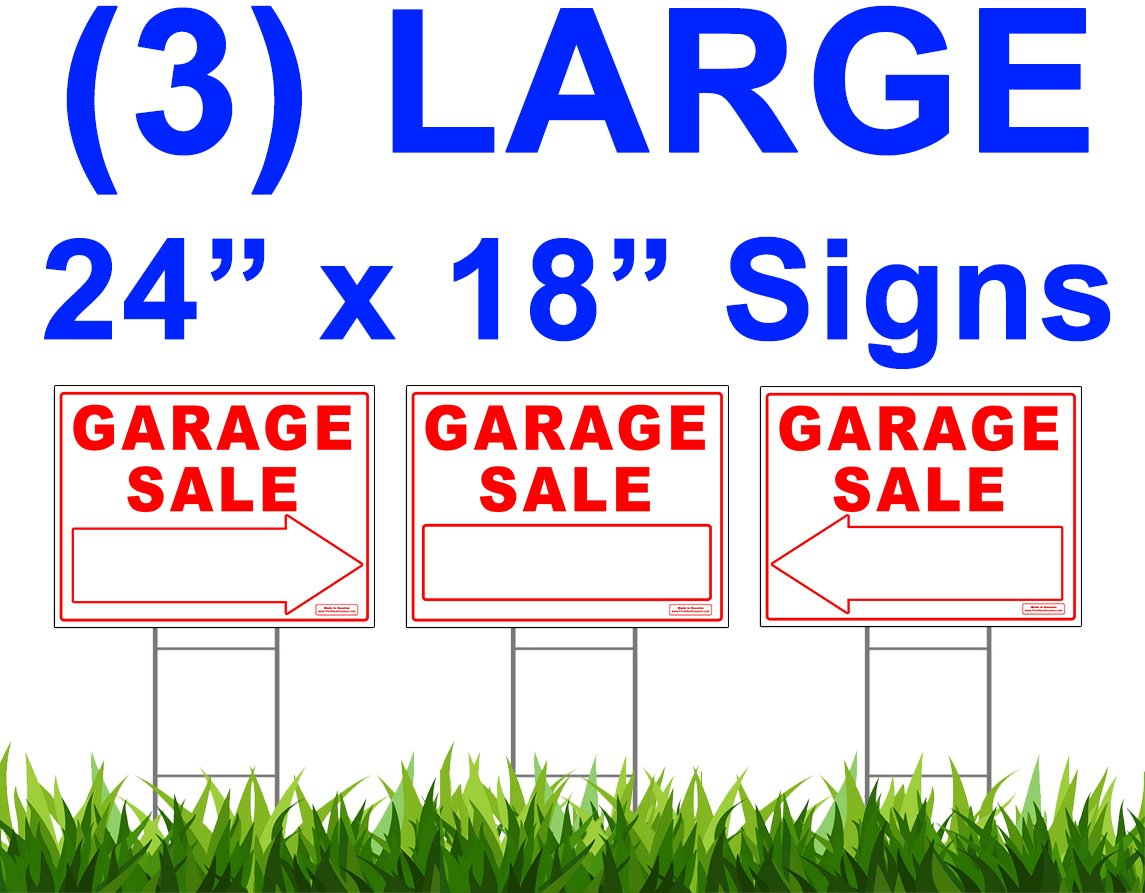 Get Quotations Large GARAGE SALE Sign Kit With Tall Stands