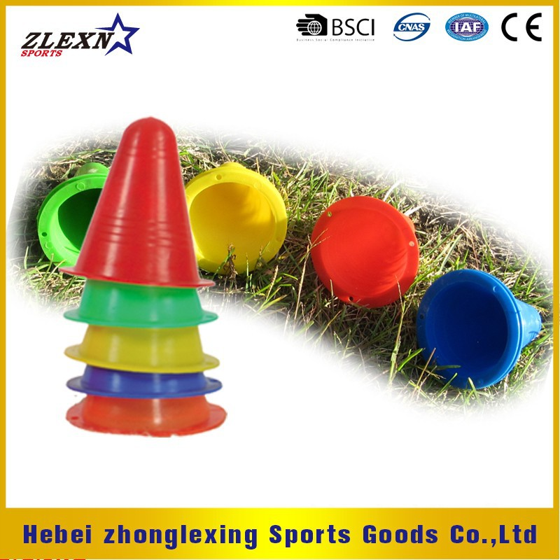 "colorful 3.5"" PE sports training soccer marker cone for speed training"