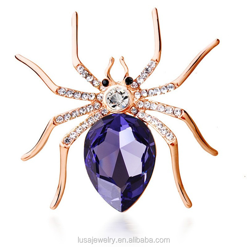 mens spider faberge new arrival detail for product suits brooch rhinestone crystal luxury