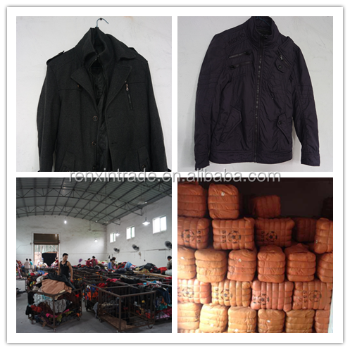 men zipper jacket wholesale bale winter used clothes/clothing