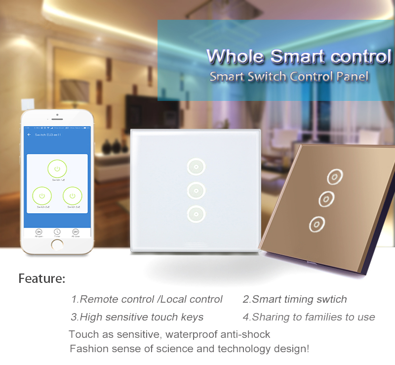 Alexa Smart Electrical Sensitive Touch Lighting Switch With Remote ...