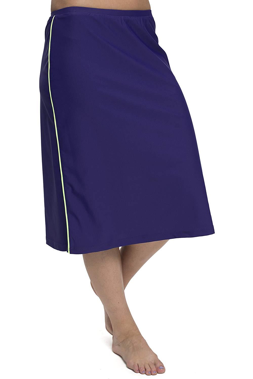 f1e70da161 Get Quotations · HydroChic Women s Modest Long Swim Skirt with Attached  Leggings