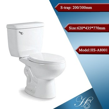 Hs A8001 Sanitary Ware Two Piece Cheap Toilets Toilet Bowl