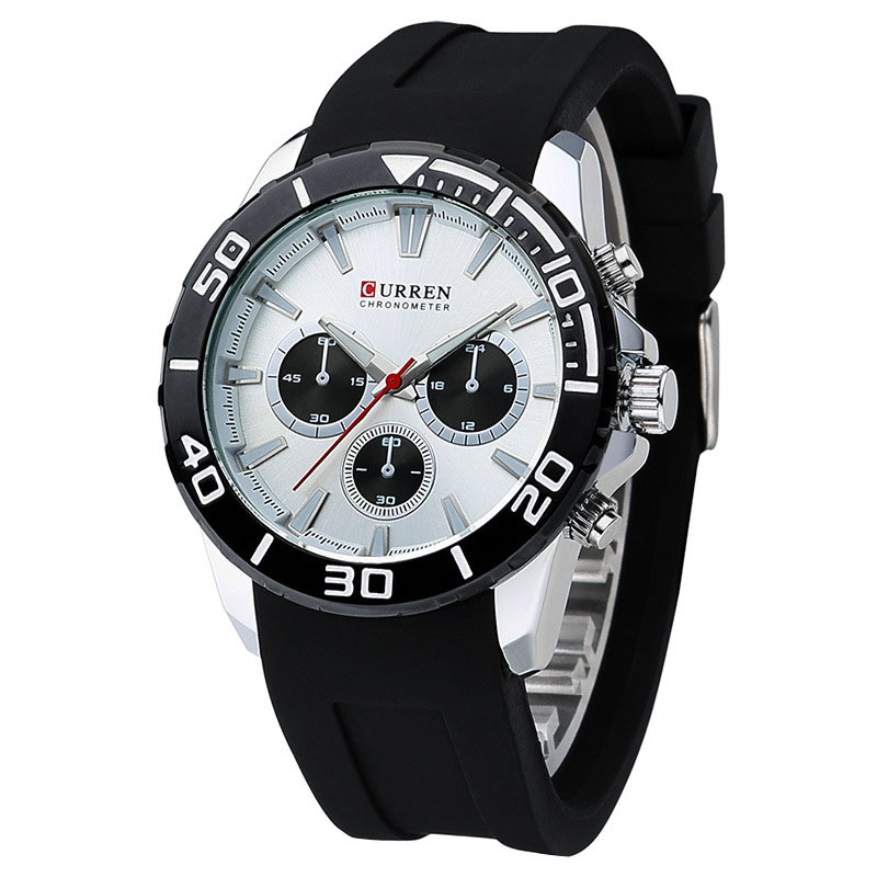 Hottest high quality sport style vogue curren silicone watch