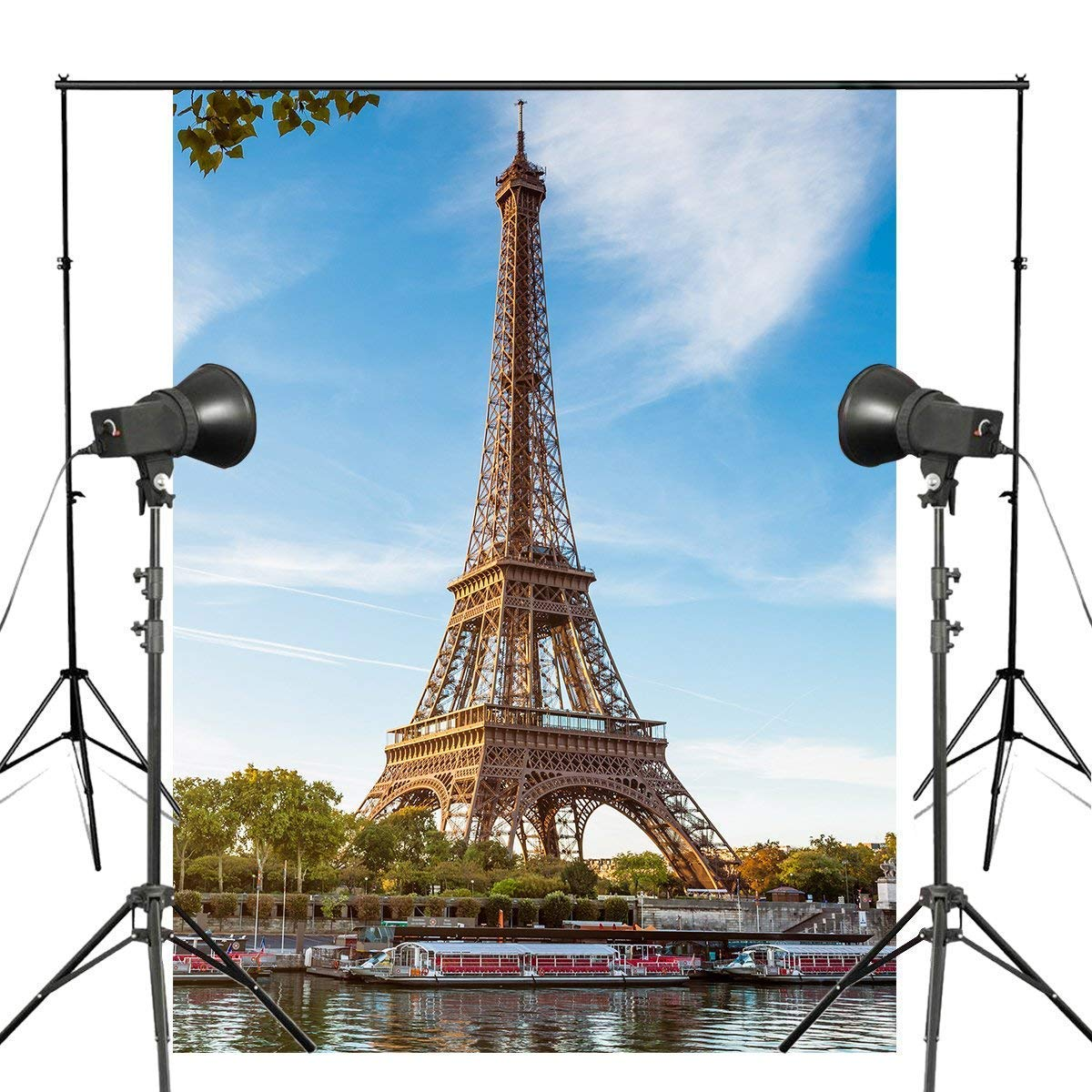 ERTIANANG 150x220cm Paris Eiffel Tower Photography Background Blue Sky Ship Architectural Landscape Backdrop Studio Photography Backdrop