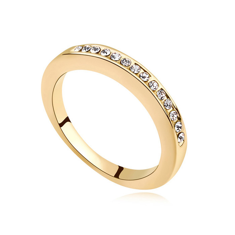 Best Quality Gold Wedding Rings Made With Swarovski