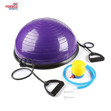 Yoga Balance Ball Trainer with Resistance Bands & Foot Pump for Yoga Fitness Strength Exercise Workout