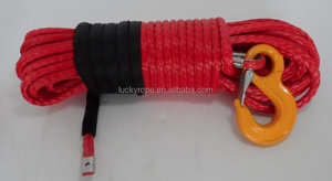 Red Winch Line Synthetic Rope 11mm x 30.5M Towing