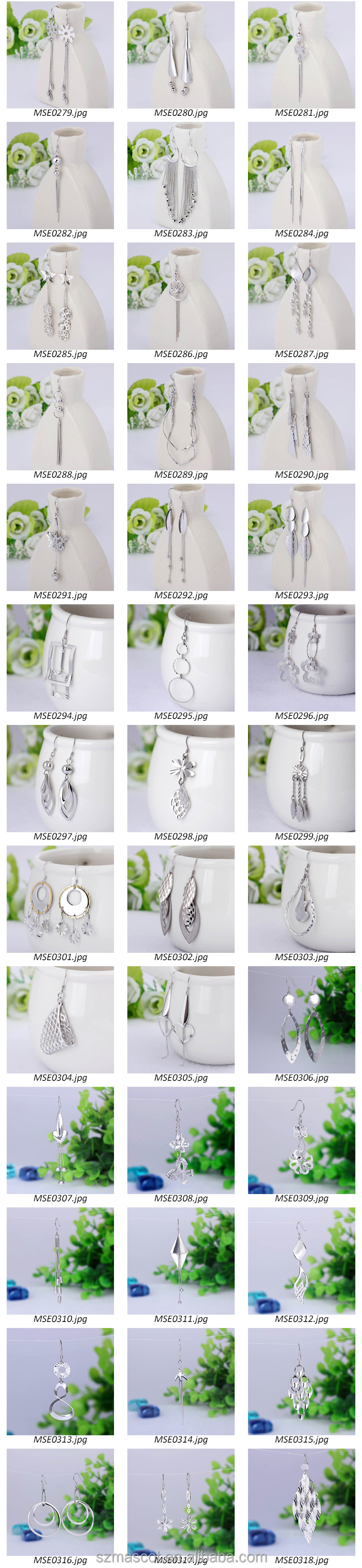 Hottest sale sterling silver stamped 925 earrings Lead free Thailand silver jewelry
