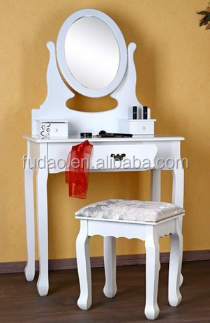 Low Price Made Up Table/ White Dressing Table With Mirror
