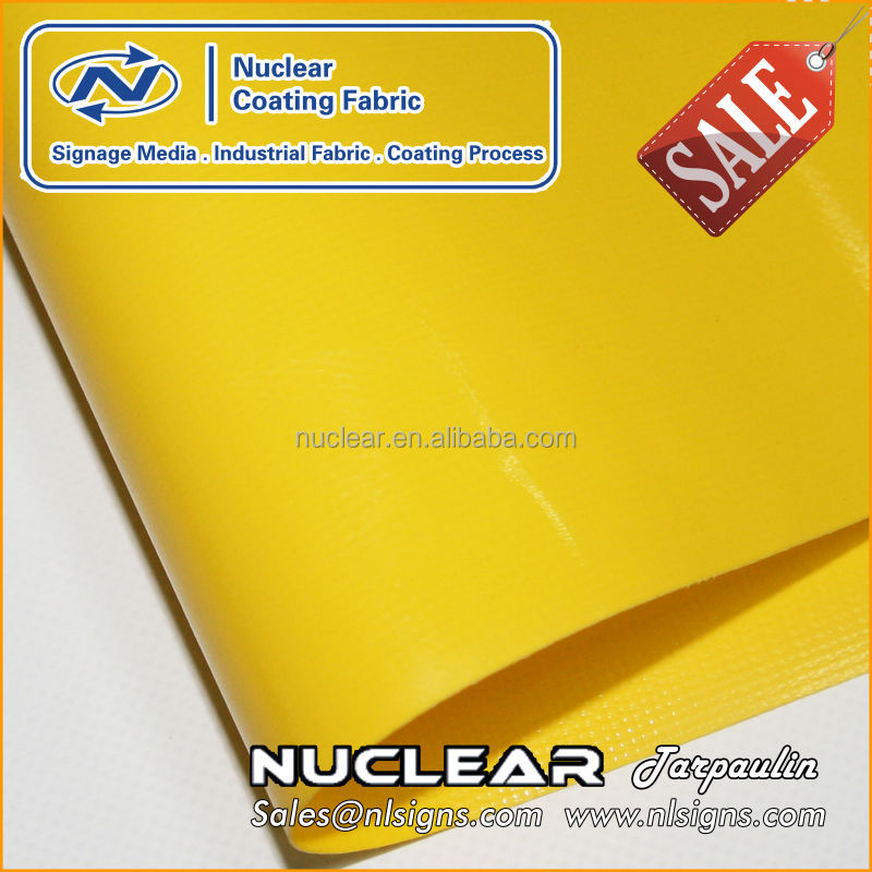 high quality UV protection yellow coated tarpaulin vinyl cover fabric