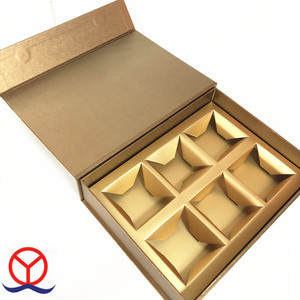 Medium Size Custom Design Cardboard Paper Magnetic Lid Moon Cake Gift Box With Multiple Compartments