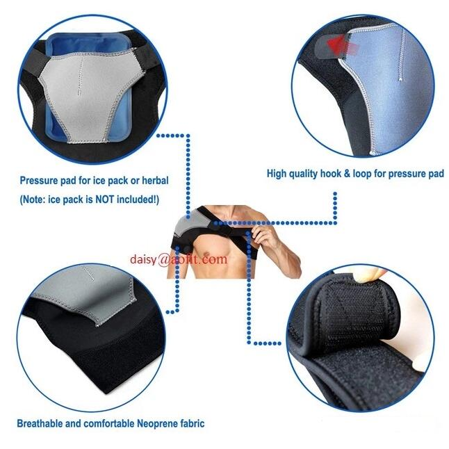 Shoulder Brace support with Pressure Pad Breathable Neoprene Shoulder Support Rotator Cuff Support, shoulder compression