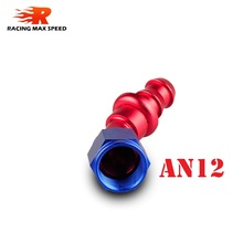 Hot Sale 45 degree elbow fitting Push On Hose End Blue and Red