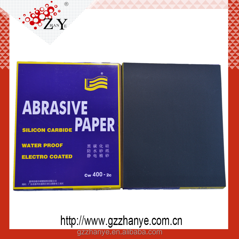 Waterproof Silicone black Carbide Abrasive Paper Wet Dry Sand Paper