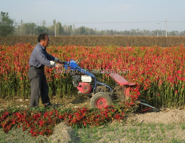 Farm working India Chili plant harvester / Chili plant reaper / Chili plant crop cutting machine