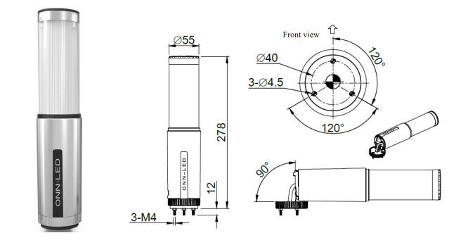 12v    24v    230v    110v tri colors led warning tower light