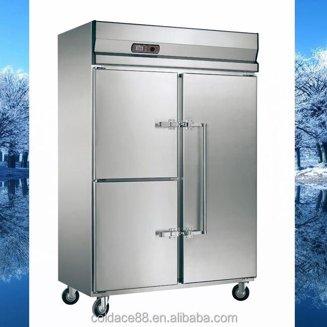 Stainless steel fan cooling upright refrigerator Freezer with CE certificate